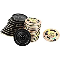 uxcell 20 Pcs 36mm 8 Ohm 0.5W External Magnetic Speaker Loudspeaker Gold Tone