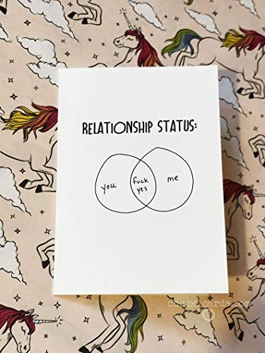 Venn Diagram, Fuck Yes, Mature Audience, LGBTQ, Relationship Status, Any Occasion, Love Card, New Relationship, Chucklcards, Wholesale Cards