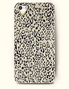 Phone Case For iPhone 5 5S Black Leopard Pattern In Light Yellow Background - Hard Back Plastic Case / Animal Print / OOFIT Authentic by supermalls
