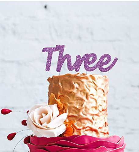 LissieLou Number Three Large Cake Topper