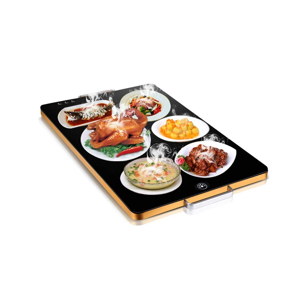 MYXMY Intelligent Meal Insulation Board Home Warming Board Square Hot Dish Insulation Pad Can Rotate Desktop Hot Meals Thermostat Artifact by MYXMY