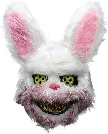 Gfhjgjhj Blanco Conejito Sangriento Máscara, Artificial Animal ...