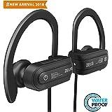 Premium Bluetooth Headphones - EXCLUSIVE 2018 - Best Wireless Running Headphones - Sport Earbuds with Mic - IPx7 Waterproof Outdoor Bluetooth Headphones - HD Stereo Wireless Headphones for Women Men