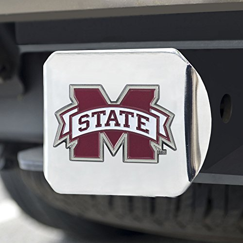 Fanmats NCAA Mississippi State Bulldogs Mississippi State Universitycolor Hitch - Chrome, Team Color, One Size
