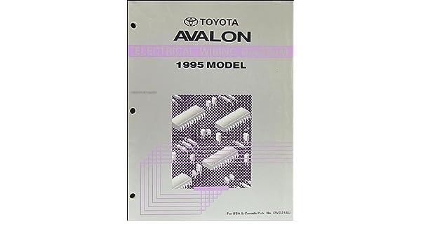 toyota avalon wire diagram 1995 toyota avalon wiring diagram manual original toyota amazon  1995 toyota avalon wiring diagram