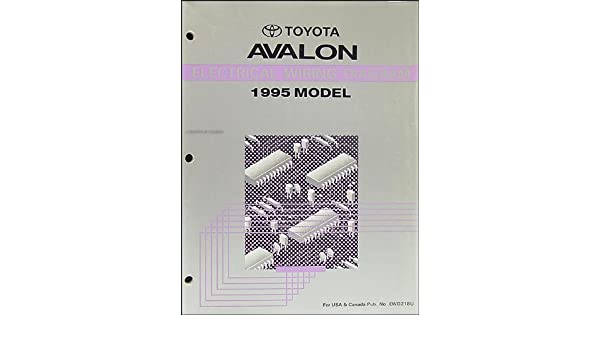1995 Toyota Avalon Wiring Diagram Manual Original: Toyota ... on