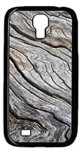 Samsung Galaxy S4 I9500 Cases & Covers - Exaggerated Wood Grain Custom PC Soft Case Cover Protector for Samsung Galaxy S4 I9500 - Black