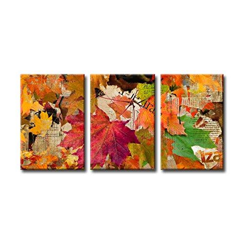 Ready2HangArt 3 Piece 'Fall Ink XX' Canvas Wall Art Set, - floral fall wall decor - autumn wall art