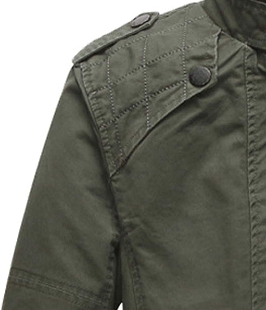 Mens Clothing Casual Pocket Jacket Stitching Slim Collar Outwear Coat Jacket Pandaie-Mens Product Men Winter Jacket Down