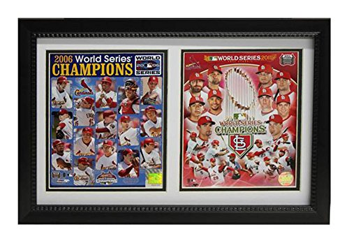 Encore Select 120-38 MLB St. Louis Cardinals Double Frame 2011/2006 World Series Champion Print, 12-Inch by 18-Inch ()