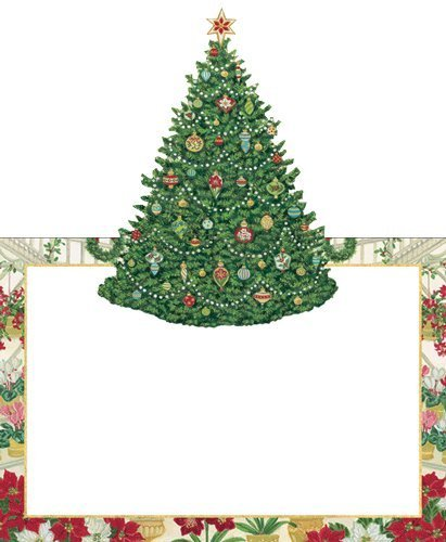 christmas place cards christmas party christmas dinner christmas table decorations xmas tree pk 16 - Christmas Dinner Decorations