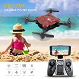 Mini Drone With Camera, Zantec RC Flexible Foldable Aerofoils Quadcopter Drone with FPV Camera and Live Video - App and Wifi Control UAV - 6-Axis Gyro Gravity Sensor RTF Helicopter