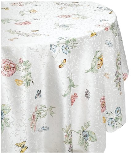 Lenox Butterfly Meadow 70 Inch Round Tablecloth Import