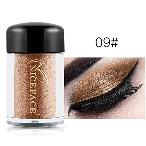 09 Pants - Oksale 29 Colors Eye Shadow Makeup Pearl Metallic Eyeshadow Palette for Professional Makeup or Daily Use (NICEFACE-09)