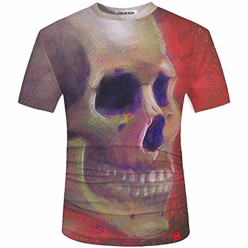 Clue Costumes Ideas (3D Men T shirt Fashion Men's Skull 3D Printed T shirt Plus Size S-5XL Funny Print Men Clothes Camiseta Masculino 17 Asian Size 3XL)