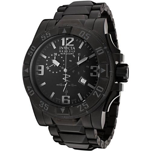 Invicta Men's 6260 Reserve Collection Excursion Chronograph Black Ion-Plated Watch - Excursion Chronograph