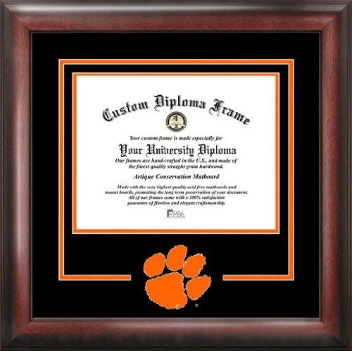 Clemson University Tigers – カレッジロゴ – Spiritマットカットアウト – 卒業証書フレーム  Diploma Size - Up To 8.5 x 11