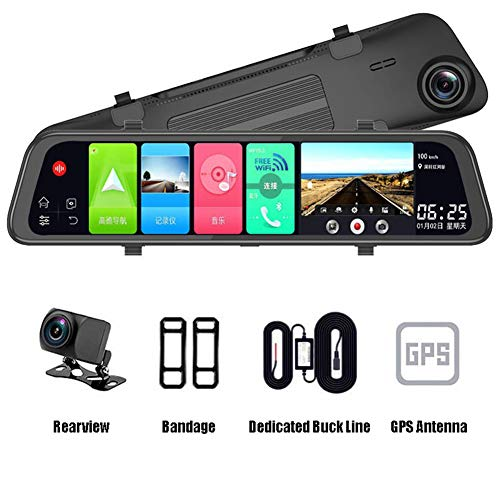Mirror Dash Cam Heart Horse Rear View Mirror 1080P Dual Lens Night Vision Voice Control Loop Recording Emergency Recording Cloud Electronic Dog Screen Rearview Front and Rear Various Models