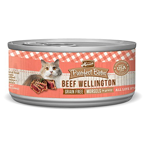 Merrick Purrfect Bistro Grain Free, 5.5 oz, Beef Wellington - Pack of 24