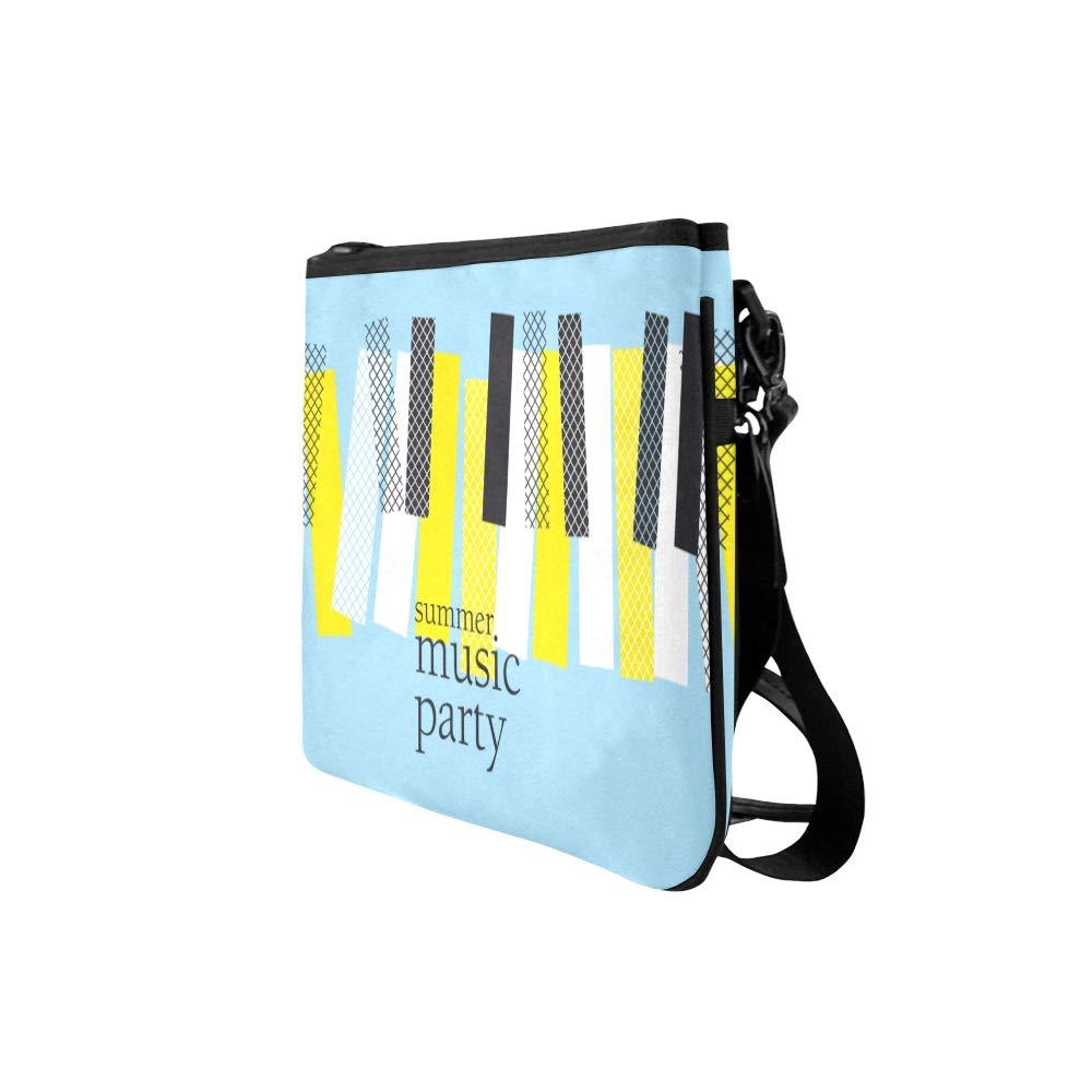 Piano And Piano Keyboard Patterns Pattern Custom High-grade Nylon Slim Clutch Bag Cross-body Bag Shoulder Bag
