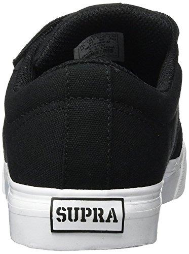 Supra Unisex-Kinder Stacks II Vulc Velcro Sneaker Black/White