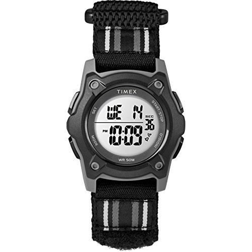 Timex Kids TW7C26400 Time Machines Digital 35mm Black Double-Layered Fast Wrap Watch (Ironman Timex For Watch Girls)