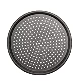 MyLifeUNIT Carbon Steel Pizza Pan with Holes, Non-Stick Pizza Crisper Tray, 12-inch