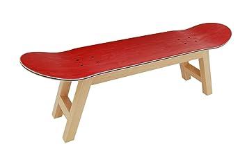 Skateboard Bett Tablett Schlafzimmer Hocker Dekoration, Natur, Rot