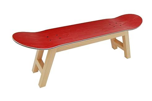 skateboard bett tablett schlafzimmer hocker dekoration natur rot - Skateboard Bank Beine