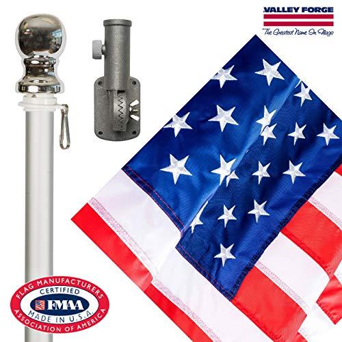 - Valley Forge Flag 99060 Nylon American Flag Kit, 2.5'x4' Embroirdered Set (Renewed)