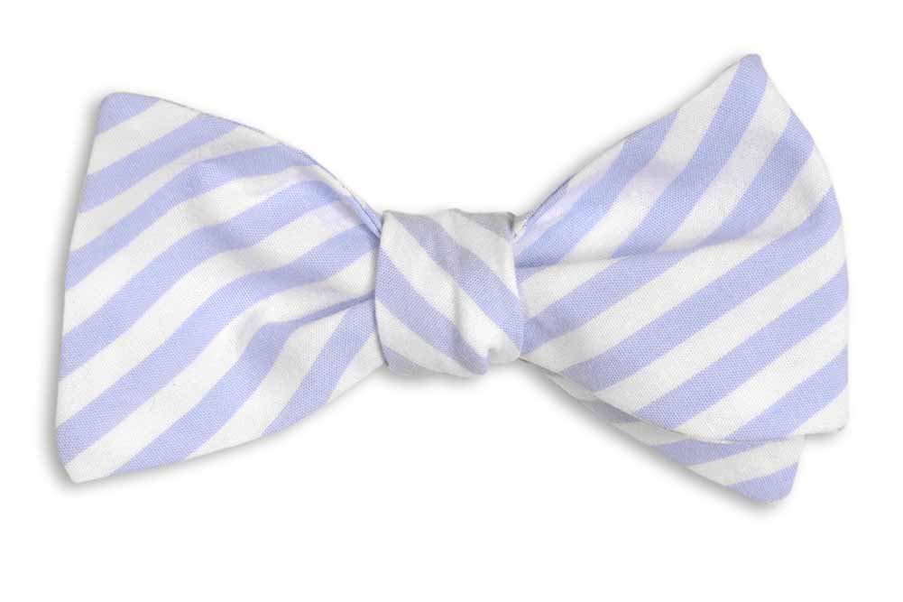 High Cotton Men's Self Tie Stripe One Size Wide Carolina Blue by High Cotton