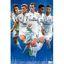 Real Madrid - Sport / Soccer Poster / Print (Cristiano Ronaldo, Sergio Ramos, Varane, Garthe Bale & Toni Kroos) (Size: 61cm x 91.5cm)