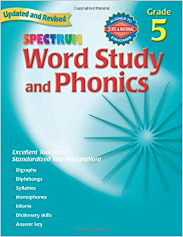 Amazon spectrum word study and phonics grade 5 updated amazon spectrum word study and phonics grade 5 updated revised 2015769682952 frank schaffer publishing books fandeluxe Images