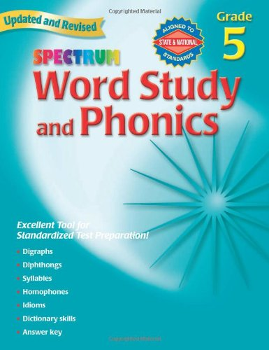 Spectrum Word Study and Phonics, Grade 5, Updated & Revised ebook