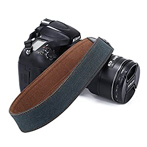 Universal Camera Strap Tie Dye Jeans Soft Safety Tether Multi-color Neck Wrist Strap for Canon Nikon Olympus Fuji Pentax Panasonic Sony DSLR SLR Camera