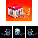 Image of Adorox Clear Acrylic Ice Bucket with Tongs