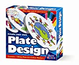 Create Your Own Plate Design - Markers - Girls Boys Kids Children - Arts & Crafts Activity Set - Best Selling Birthday Present Gift Fun Toys & Games Idea Age 3+