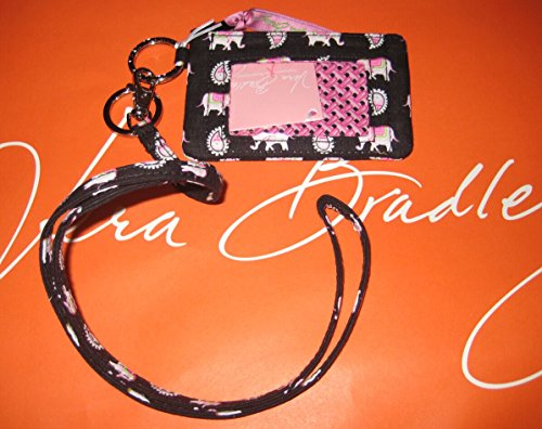 Vera Bradley Zip Id Case and Lanyard in Pink Elephants by Vera Bradley