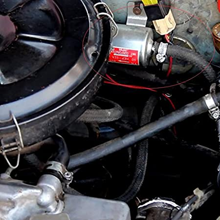 OUYAWEI Bomba de Combustible el/éctrica en l/ínea de la Baja presi/ón de la Bomba de Gasolina del Gas de 12V//24V Gold 12V