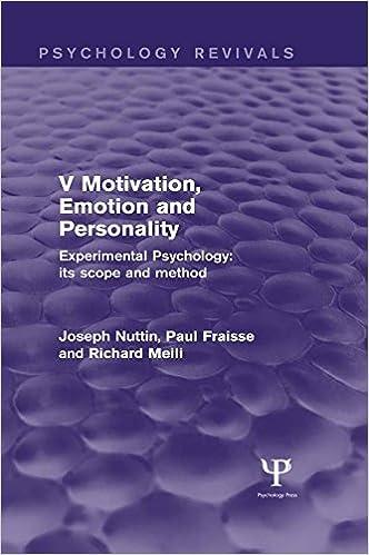 scope of experimental psychology