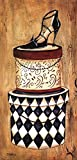 Vintage Hat Box II by Krista Sewell Art Print, 12 x 24 inches