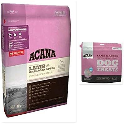 ACANA 1 Lamb & Apples Dry Dog Food 25 lb. Bag & 1 Lamb & Apples 3.25 OZ Bag Dog Treats Bundle (2 Items) Fast Delivery by Just Jak's Pet Market