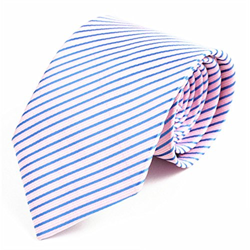 Polyester Pink Classic Business Casual Tie Wedding Necktie Suit Suit Men's Fine And Tie Tie Decorative Tie Blue Striped zdwxP4xq