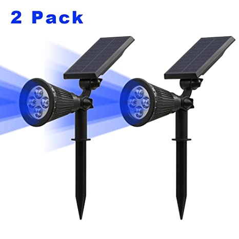 T SUN Solar Spotlights LED Outdoor Wall Lights Auto On At Night