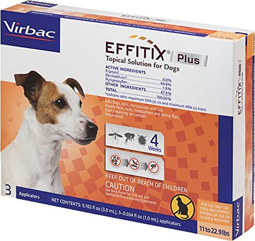 Virbac EFFITIX Plus Topical Solution for Small Dogs 11-22.9 lb 3 Count by Virbac