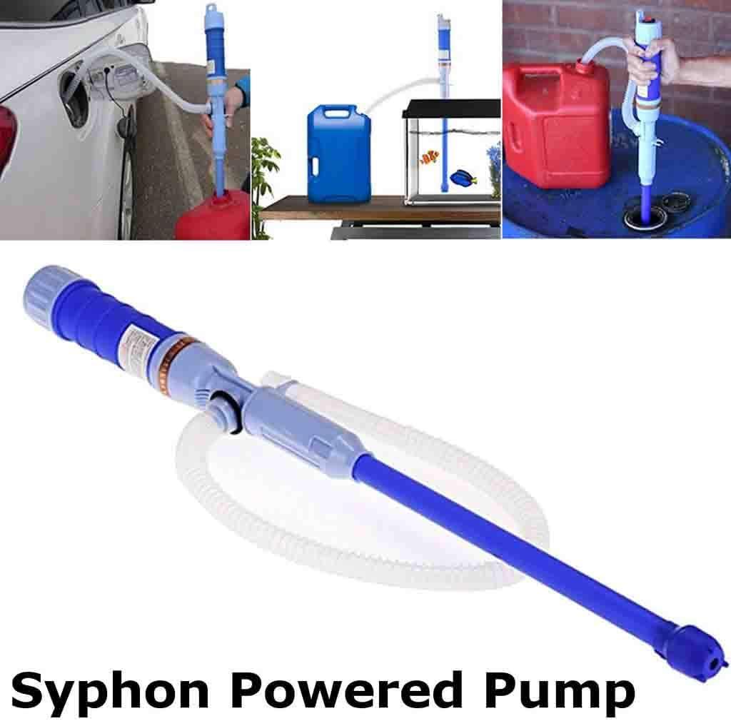 Flnfdsm Siphon Pumpe Batteriepumpe Elektrische Benzinpumpe Rot Kanisterpumpe Umf/üllpumpe F/ür Fl/üssigkeiten Wie Diesel /Öl Wasser