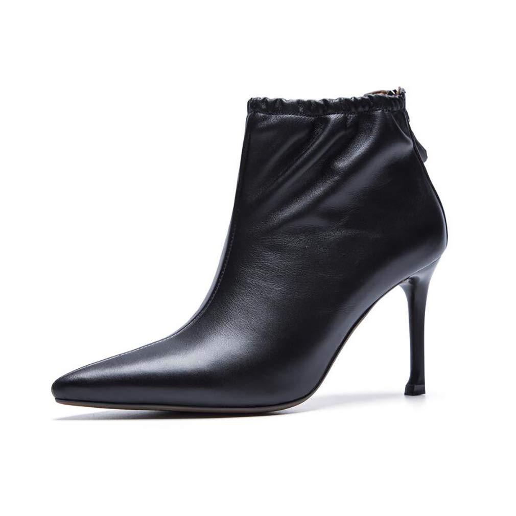 8586f5a6275de9 y-h y-h y-h des chaussures bottes de cuir printemps / automne bottine de  talon aiguille les chaussons / bottines / mesdames personnalité élégante  martins ...