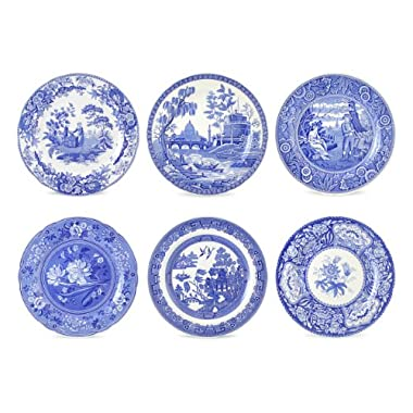 Spode Blue Room Georgian Plates, Set of 6 Assorted Motifs