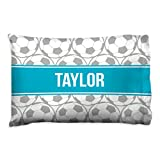 Personalized Soccer Ball Pillowcase | Soccer Pillows by ChalkTalk SPORTS | Teal