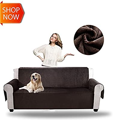 YEMYHOM Real Non-slip Pet Dog Sofa Covers Protectors with Waterproof Flannel Fabric